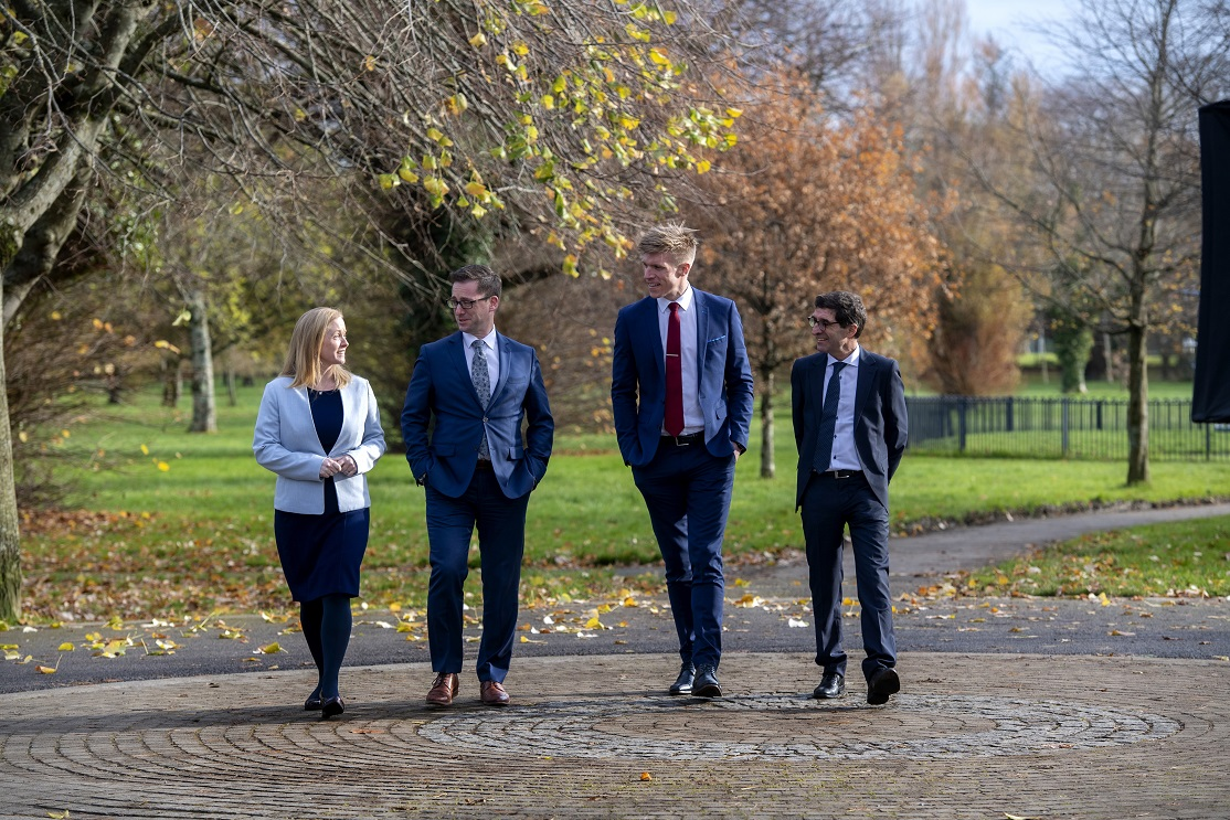 Pictured in Tralee to announce the merger of MJS Legal with Cork's CDS Law & Tax are (L-R) Jennifer Downing (Senior Associate, CDS Law & Tax), Mike Stack (MJS Legal), Tommy Walsh (Kerry GAA star and Chartered Tax Advisor with CDS Law & Tax) and Ciaran Desmond (Principal, CDS Law & Tax). Picture: Domnick Walsh.